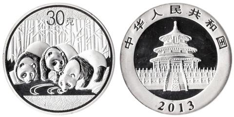 Жетон Китайская панда. Китай. 2013 год. PROOF