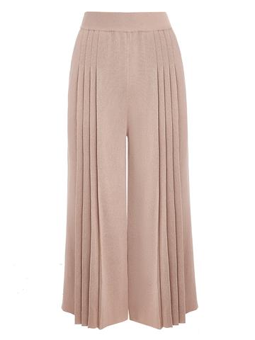Женские брюки бежево-розового цвета из вискозы - фото 1