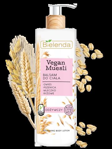 VEGAN MUESLI питательный лосьон для тела пшеница + овёс + рисовое молоко 400 мл