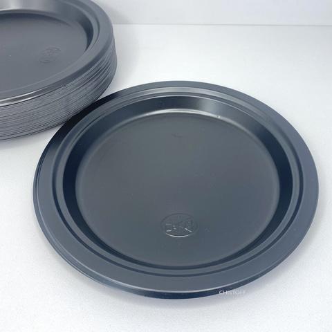 Тарелки пластиковые черные (50 шт.)