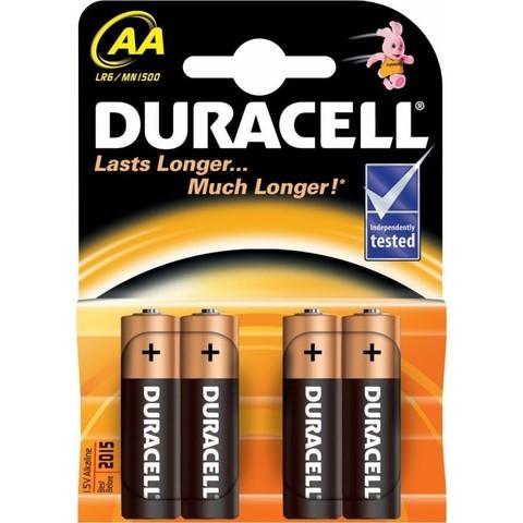 Батарейки AA (пальчиковые) DURACELL LR6 ( 4 штуки в блистере)