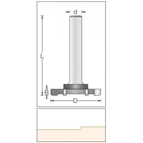 Концевая шестизубая обгонная фреза 52x6.5x83x12 1600059