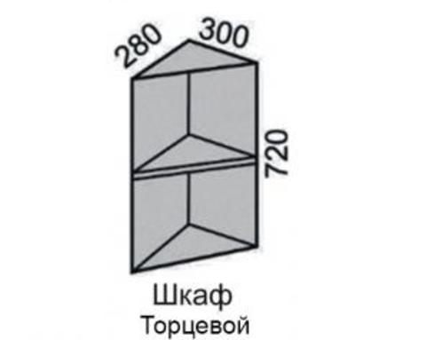 СОФЬЯ, СВЕТЛАНА, ПРЕМЬЕР, ПОЛИНАШкаф (торцевой)без фасада 300