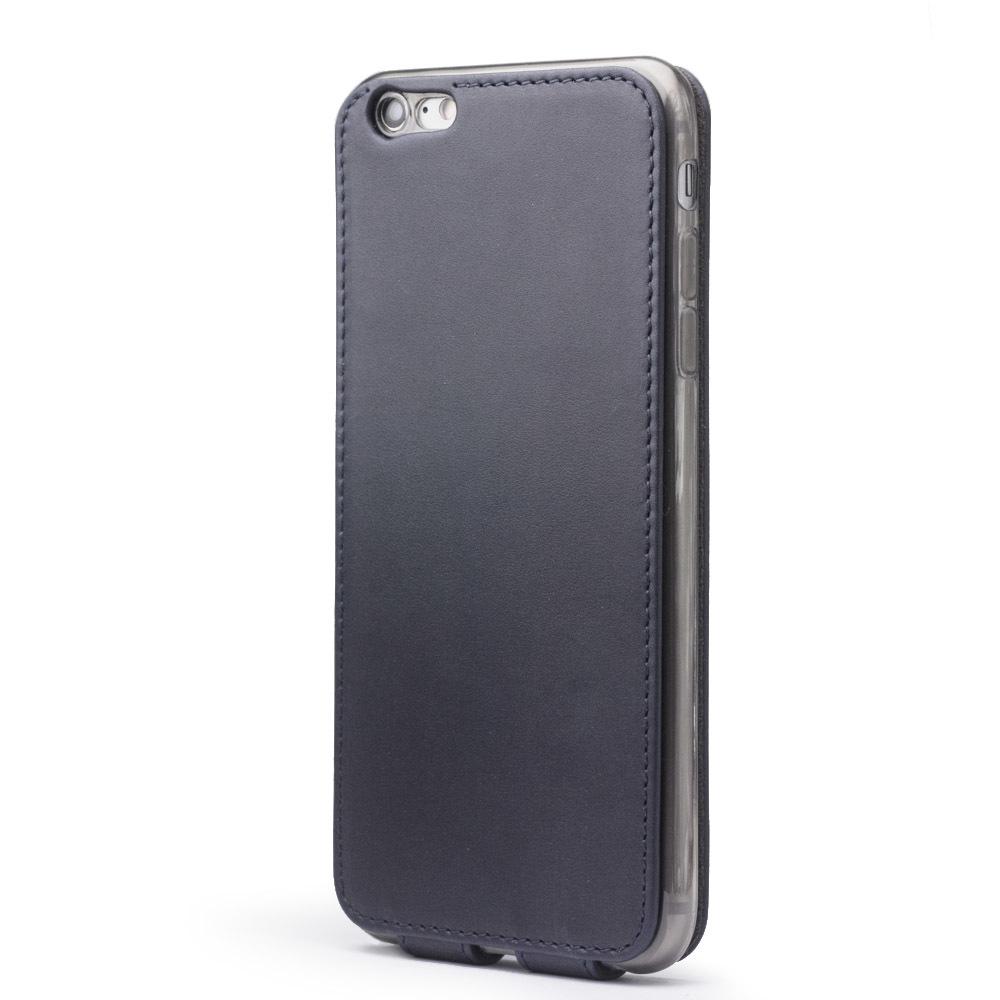 Чехол для iPhone 6/6S Plus из натуральной кожи теленка, темно-синего цвета