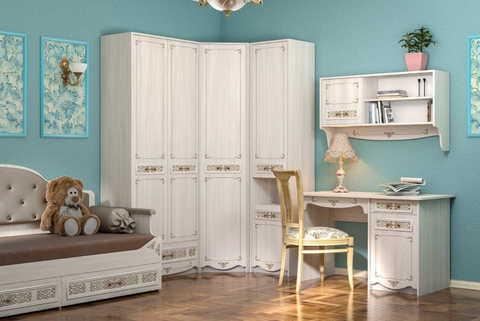 Шкаф для одежды угловой Флоренция 13.123 Моби ясень анкор