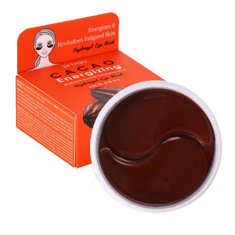 PETITFEE Охлаждающие гидрогелевые патчи с экстрактом какао  - Cacao Energizing Hydrogel Eye Mask  60 шт