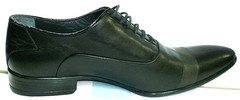 Туфли оксфорды мужские Etor черные, классика