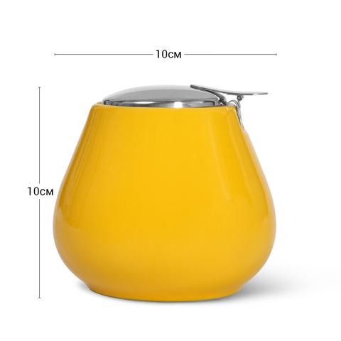 9400 FISSMAN Сахарница 600мл, цвет Желтый (керамика),  купить