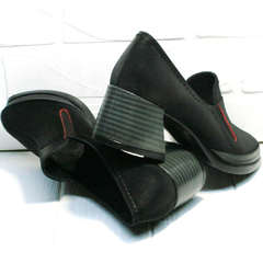 Осенние женские туфли каблук 6 см H&G BEM 167 10B-Black.