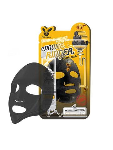 Тканевая маска для лица с углем и медом Black Charcoal Honey Deep  23мл, Elizavecca