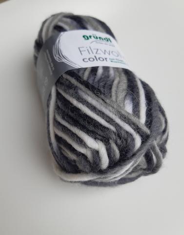 Пряжа шерсть для валяния Filzwolle Color 20