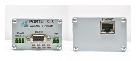 PORTU RS232/RS485-Ethernet v3.3, конвертер интерфейсов