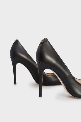 Женские черные кожаные лодочки DECOLLETE Guess