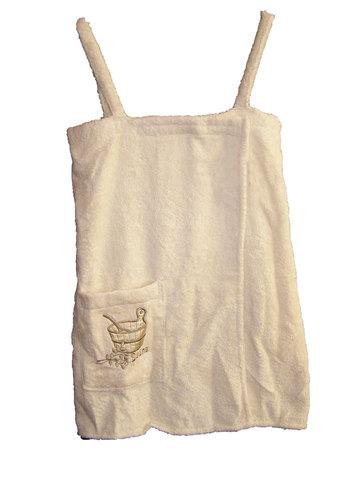 Сарафан для сауны махровый с вышивкой (М)