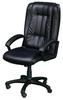 Фортуна 5(9) Кресло для руководителя (черный кожзам, пластиковая крестовина, черные пластиковые подлокотники)