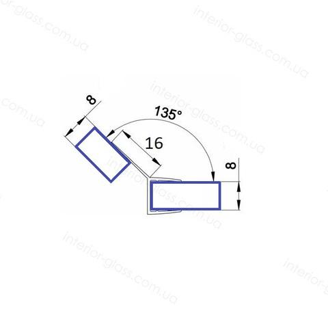 Уплотнительный профиль для душевых кабин HDL-203