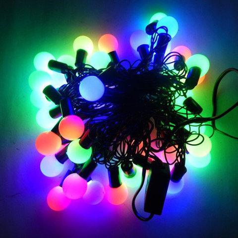 led светодиодные гирлянды шарики украшения на елку