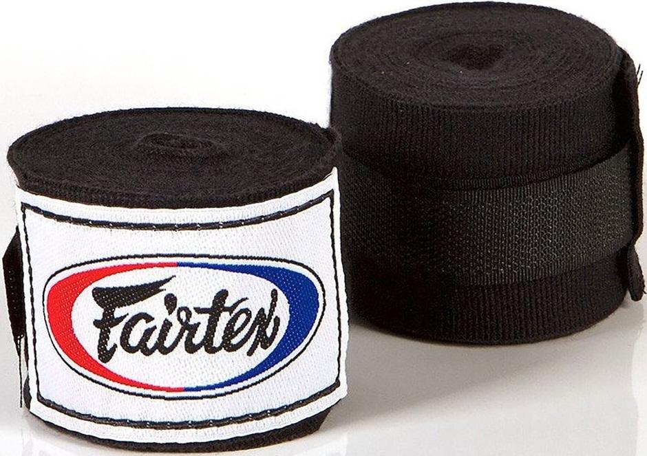 Капы и бинты Бинты Fairtex Handwrap HW2 Black 4.5м 1.jpg