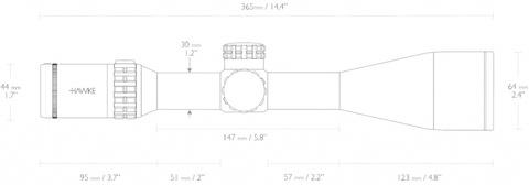 Оптический прицел Hawke Frontier FFP 5-25x56 SF IR (FFP Mil Pro 25x)