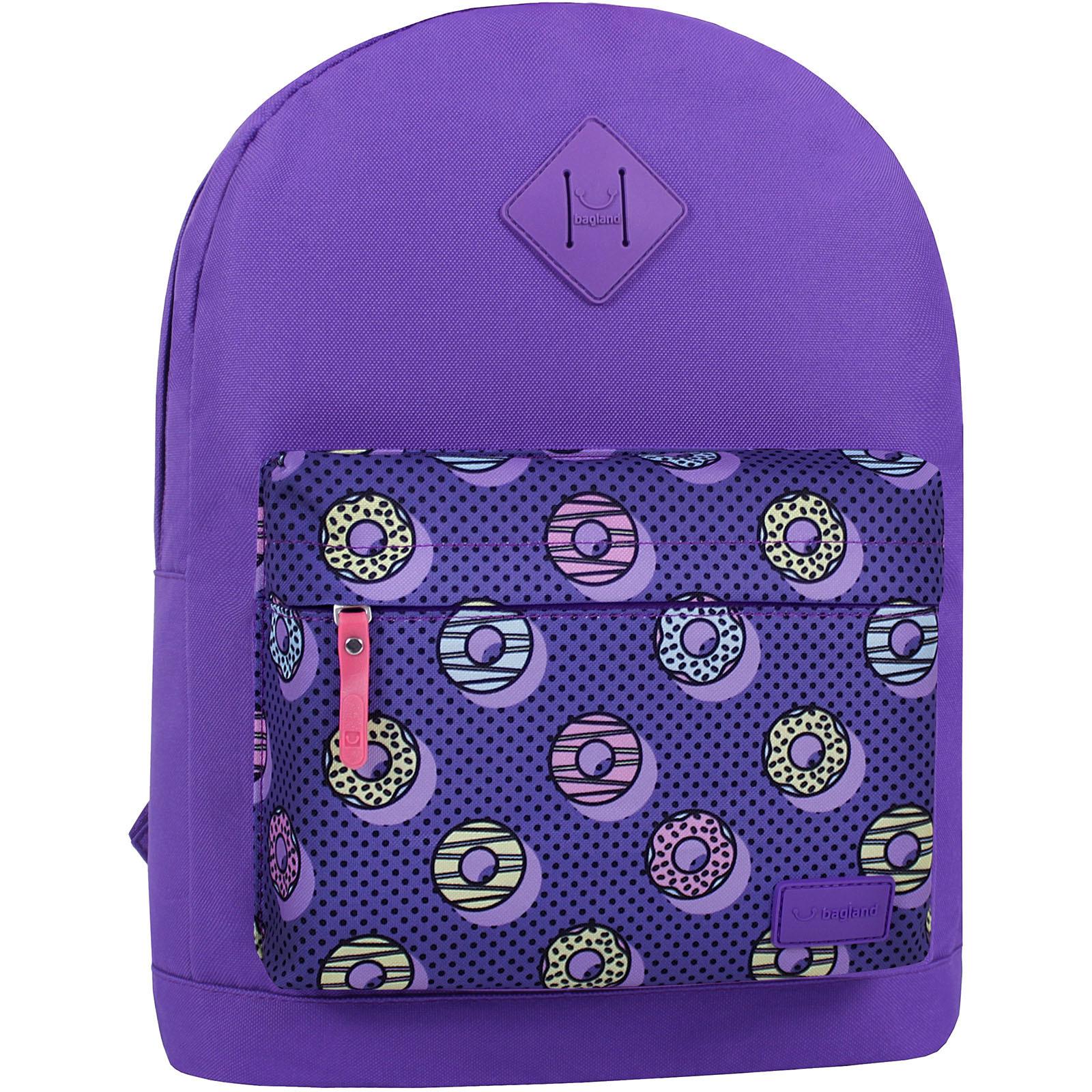 Молодежные рюкзаки Рюкзак Bagland Молодежный W/R 17 л. 170 Фиолетовый 745 (00533662) IMG_7425_суб.745_.JPG