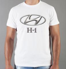 Футболка с принтом Хендай H-1 (Hyundai H-1) белая 0011