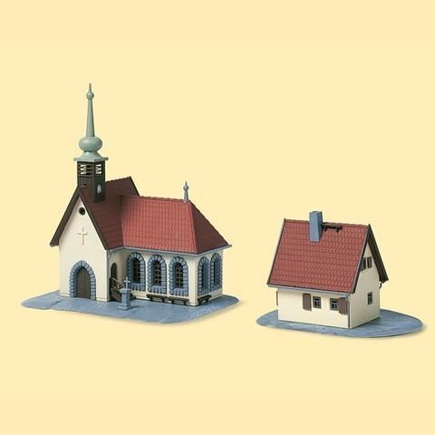 Сельская церковь и дом священника, (N)