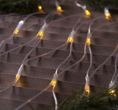 Сетка светодиодная домашняя 2х2м теплый белый