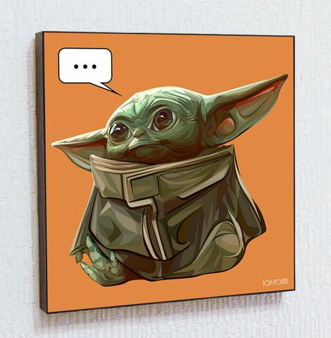 Картина постер Малыш Йода в стиле ПОП-АРТ