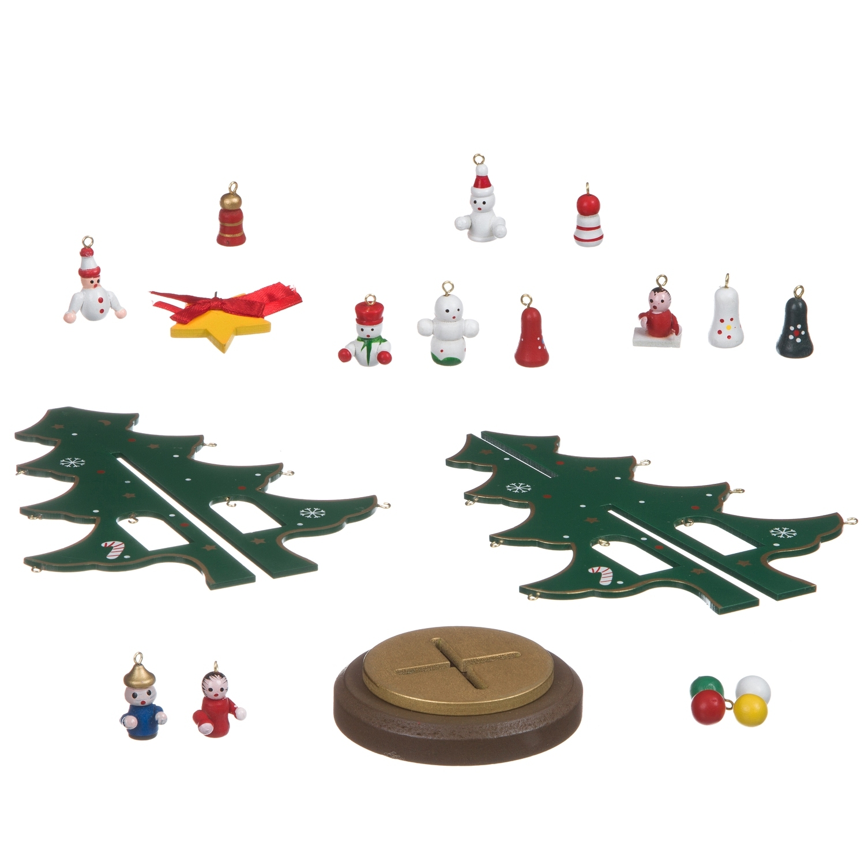 Новогодний набор BONDIBON Деревянная ёлочка 3D с игрушками, высота 22.5см