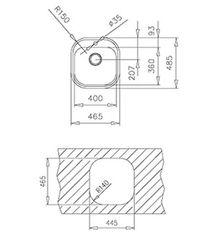 Мойка кухонная TEKA Stylo 1B Полировка - схема