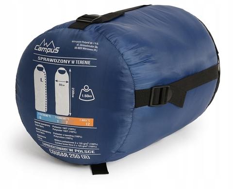Спальный мешок Campus COUGAR 250 L-zip (одеяло+подголовник, +2°С)