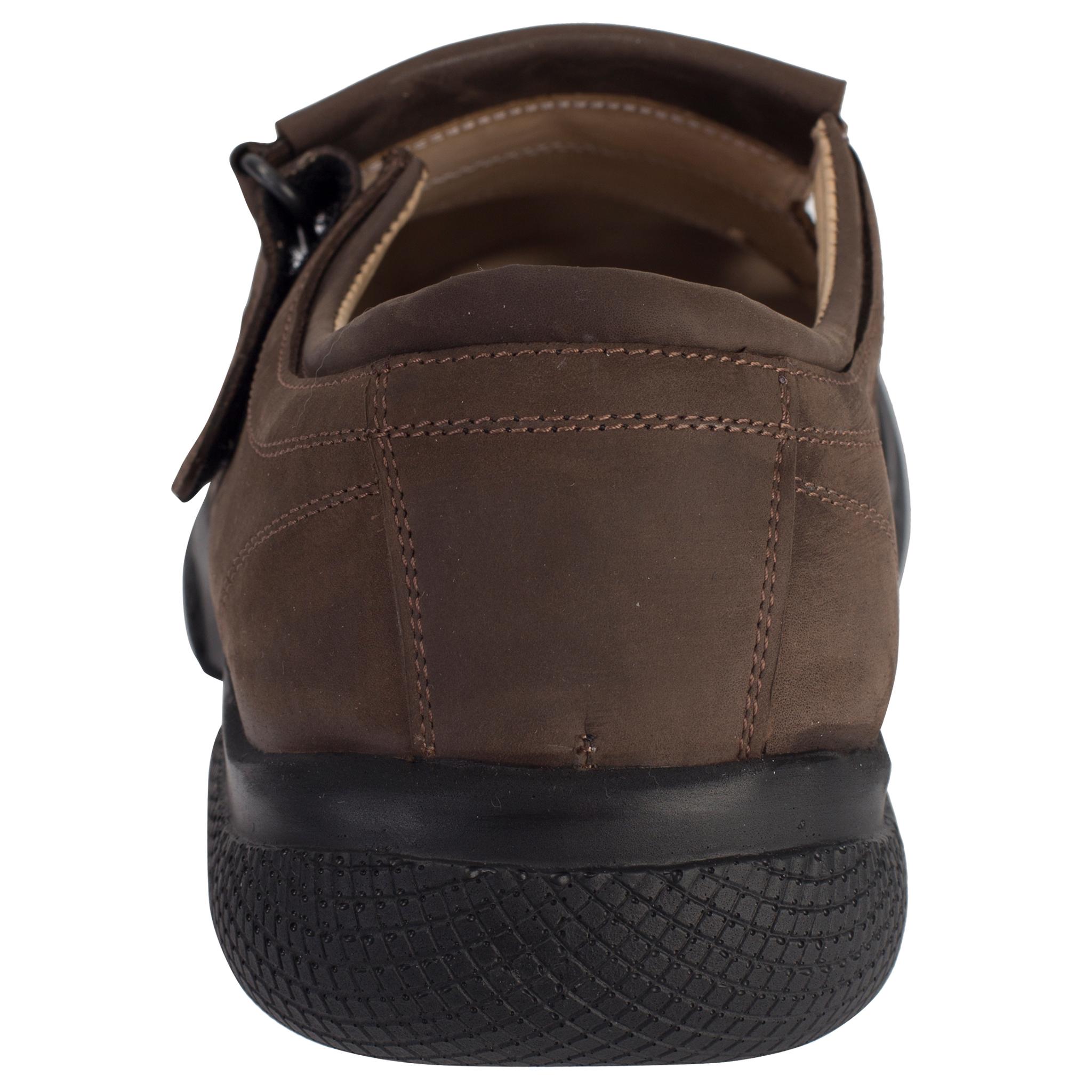 529367 сандалии мужские коричневые нубук больших размеров марки Делфино