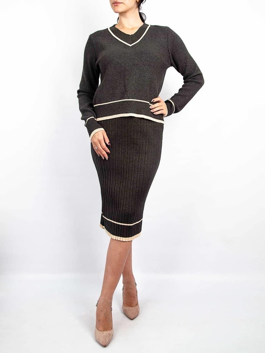 Moda Комплект кофта с плиссированной юбкой