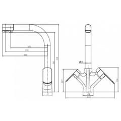 Смеситель KAISER Arena 33066 для кухни под фильтр (схема)