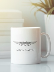 Кружка с рисунком Астон Мартин (Aston Martin) белая 007