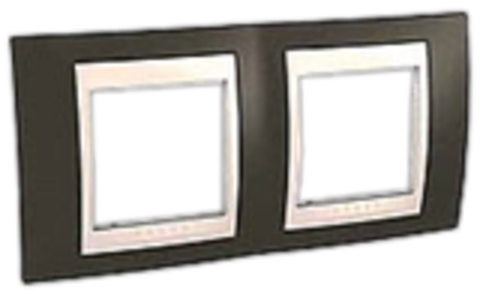 Рамка на 2 поста. Цвет Какао/Белый. Schneider electric Unica Хамелеон. MGU6.004.871