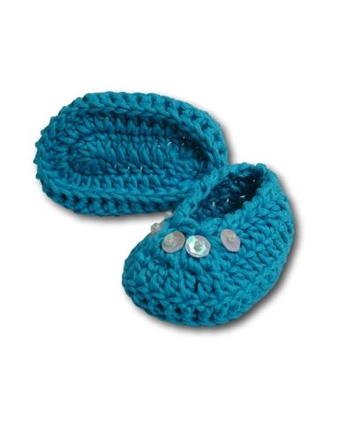 Вязаные туфли - Бирюзовый. Одежда для кукол, пупсов и мягких игрушек.
