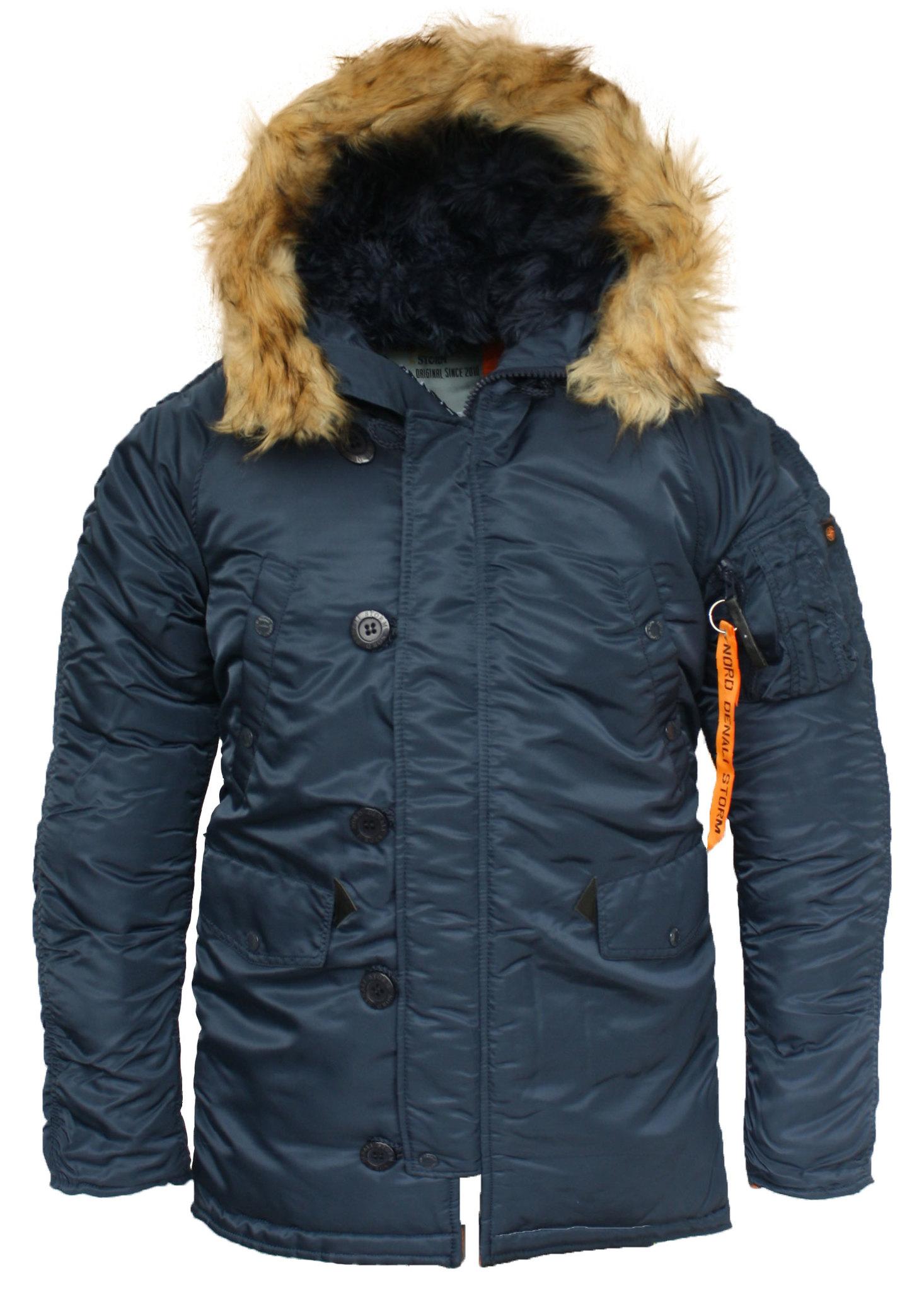 Куртка Аляска N-3B  Husky Denali (синяя - r.blue/orange)
