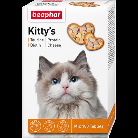 Beaphar Кормовая добавка Kitty's Mix для кошек 180 таб.