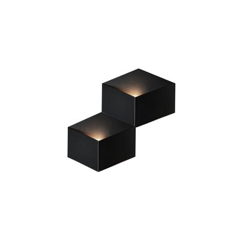 Настенный светильник копия Fold 4201 by Vibia (2 плафона, черный)