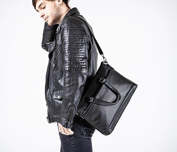 BAG533-1 Мужской портфель с ремнем на плечо фото 03