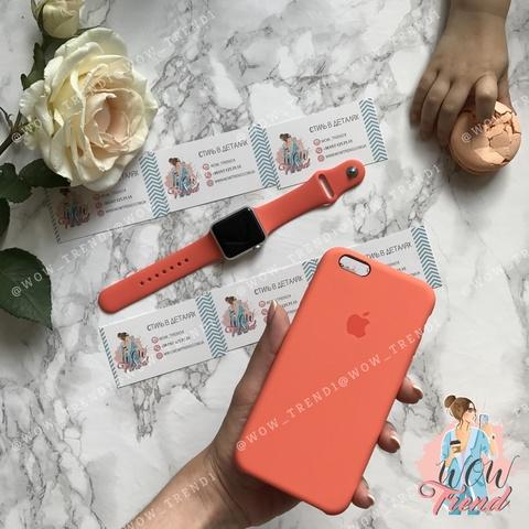 Чехол iPhone 5/5s/SE Silicone Case /new apricot/ абрикос 1:1