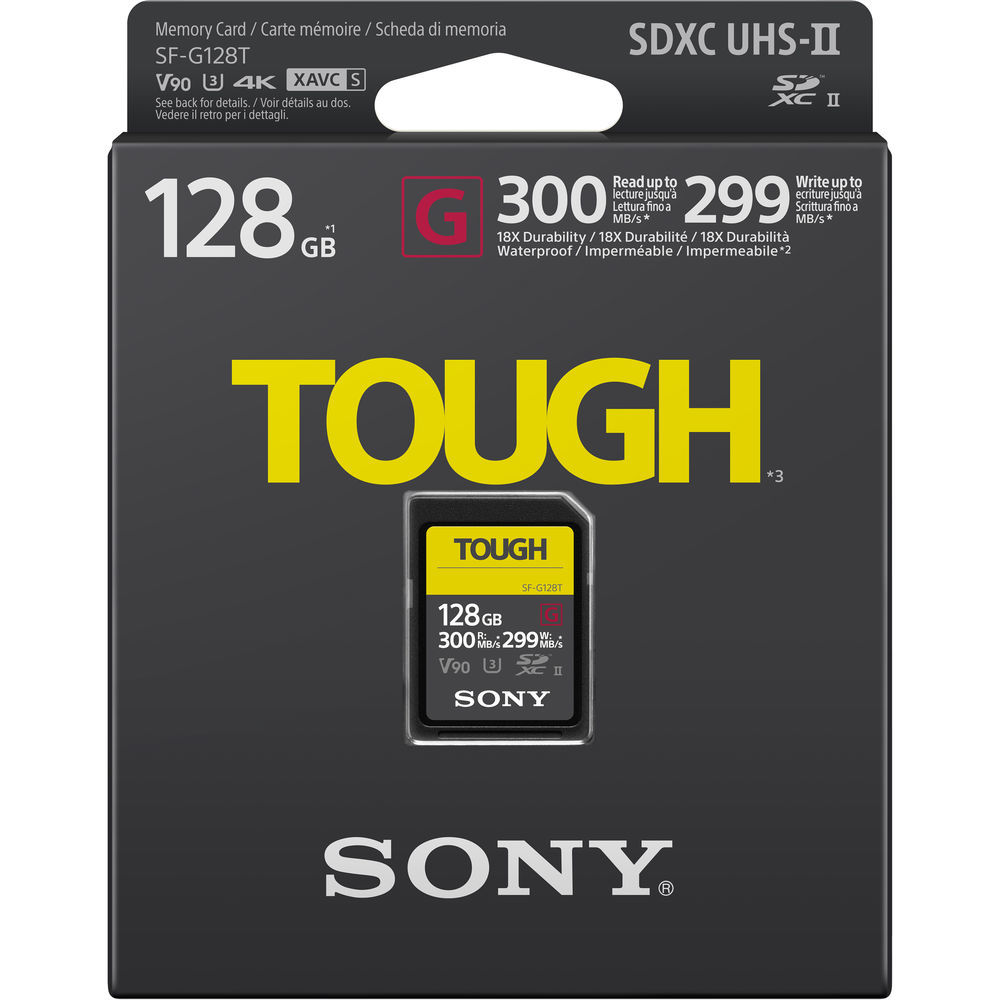 SFG1TG карта памяти SF-G Tough UHS-II 128 Гб купить в Sony Centre Воронеж