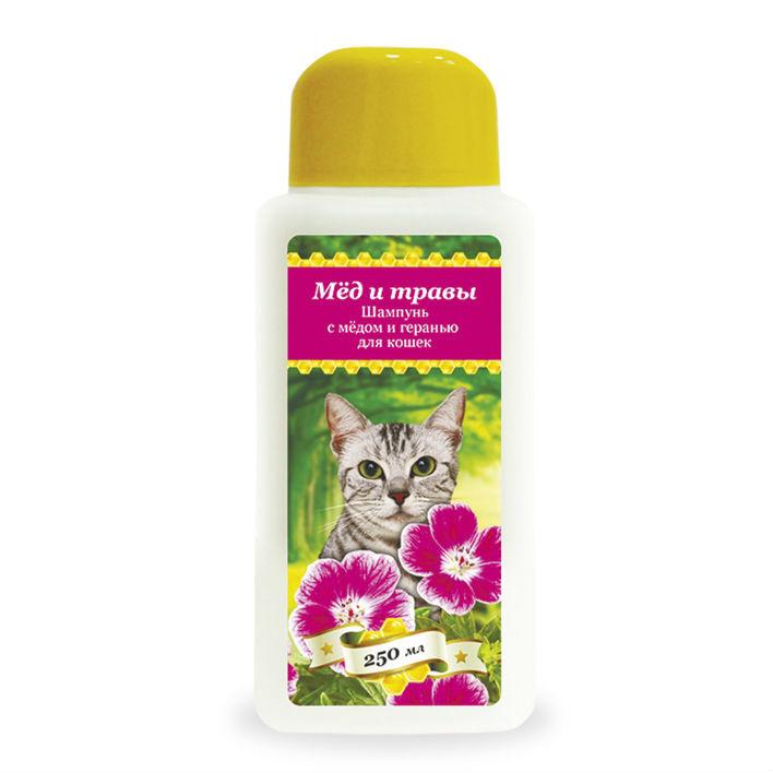 купить Пчелодар гигиенический шампунь с мёдом и геранью для кошек