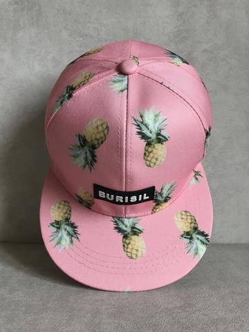 кепка бейсболка розовая ананасы принт