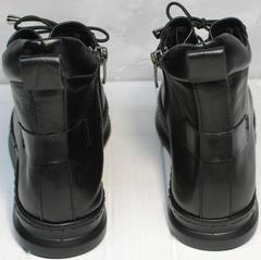 Ботинки кеды черные высокие женские Evromoda 375-1019 SA Black