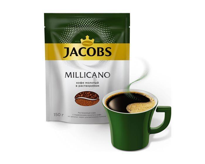 Jacobs Monarch Millicano с молотым кофе, 150 г