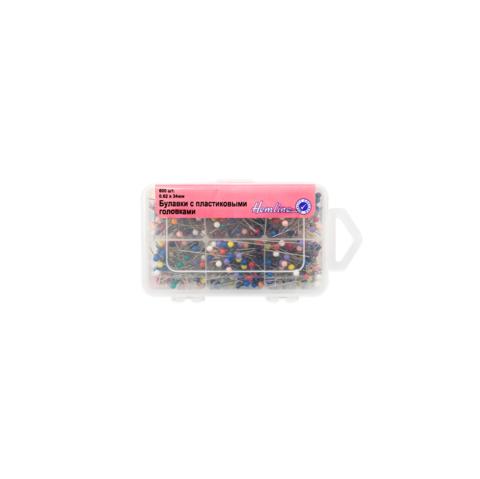 HEMLINE Булавки с цветными пластиковыми головками в органайзере