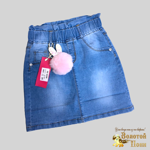 Юбка джинсовая девочке (6-11) 210312-DS-830B