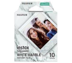 Fotoaparat lenti \ Картридж Fujifilm Instax SQUARE белый мрамор, 10 lent